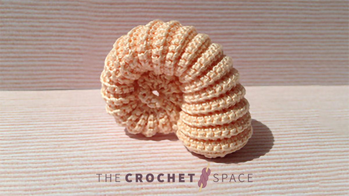 Easy Ammonite Crochet Fossil || thecrochetspace.com