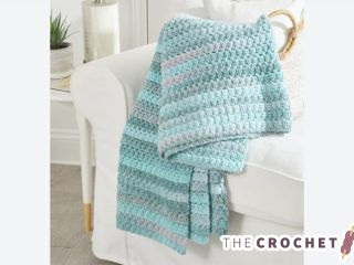 Easy Aston Crochet Throw || thecrochetspace.com