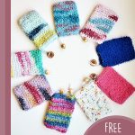 Easy Crochet Soap Sack. Nine different colored soap sacks arranged in a circle    thecrochetspace.com