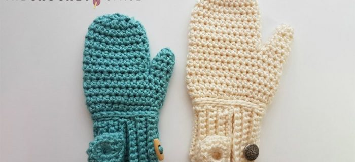 Easy Freedom Crochet Mittens || thecrochetspace.com
