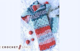 Easy Lace Crochet Scarf    The Crochet Space