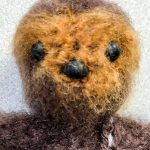 Easy Mini Crochet Chewbacca. View of head & face only    thecrochetspace.com