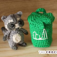 Easy Mini Crochet Raccoon || thecrochetspace.com