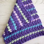 Easy Textured Crochet Dishcloth. One dishcloth with one corner folded now || thecrochetspace.com