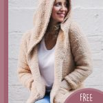 Easy Zip-up Crochet Hoodie . hood up and hands in pockets || thecrochetspace.com
