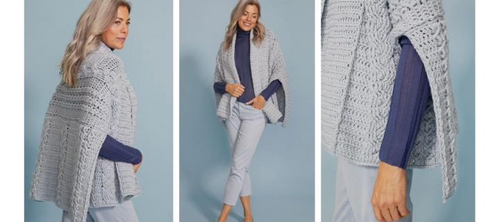 Stay Warm This Winter With This Elegant Eve Crocheted Wrap | thecrochetspace.com