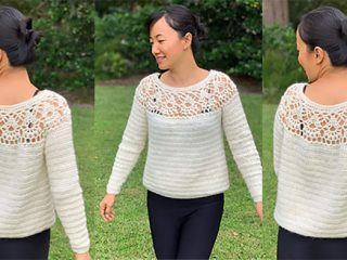 Eternal Garden Crochet Sweater || thecrochetspace.com