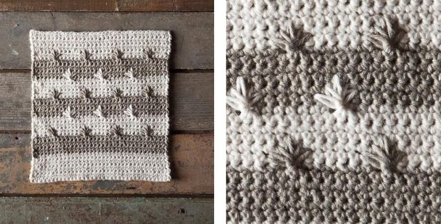Star Bright Crochet Dishcloth | thecrochetspace.com
