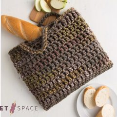 Fall Crochet Square Bag || thecrochetspace.com