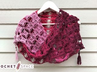 Fancy Flora Crochet Shawl || thecrochetspace.com