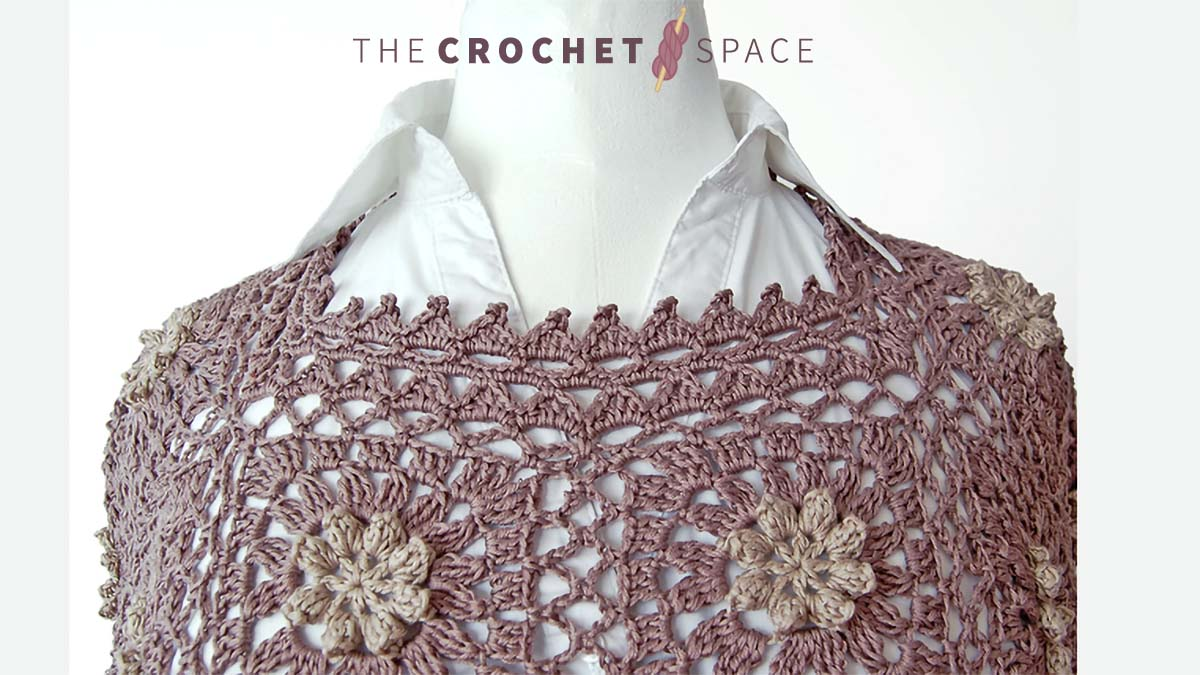Flower Square Crochet Tunic. Brown and beige flower granny square tunic. tunic Long Sleeves. Lightweight    thecrochetspace.com