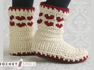 Forever Loved Crochet Boots || thecrochetspace.com