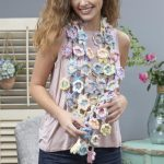 Free-form Flora Crochet Scarf. Join as you go individual flowers in pastel colors    thecrochetspace.com