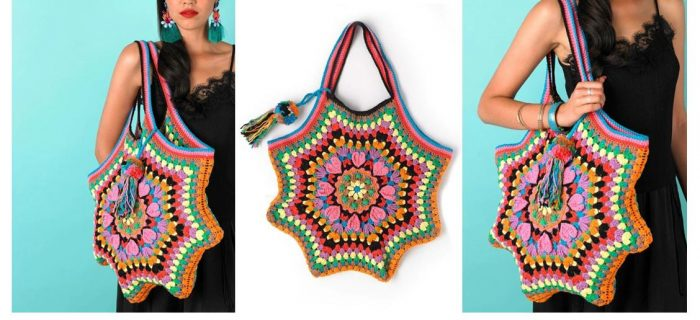 Frida's Passion Crochet Bag | thecrochetspace.com