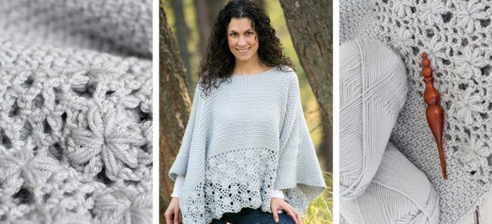 Frost Petals Crochet Poncho || thecrochetspace.com