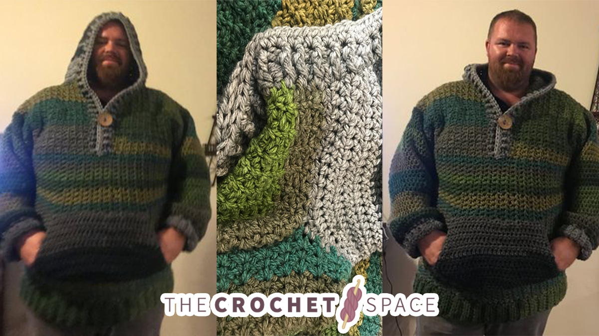Gent S Spider Crochet Hoodie Free Crochet Pattern Tutorial The Crochet Space