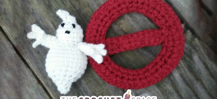 Ghost Busters Crochet Applique || thecrochetspace.com