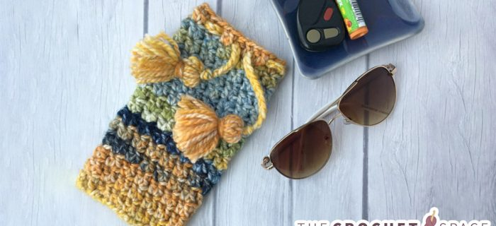 Glasses Vacation Crochet Case || thecrochetspace.com