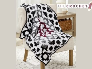 Graphic Granny Crochet Throw || thecrochetspace.com