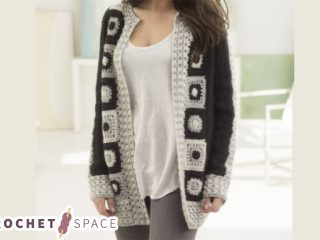 Graphic Statement Crocheted Cardigan || thecrochetspace.com