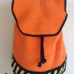 Halloween Crochet Back Pack. Orange and black back pack    thecrochetspace.com