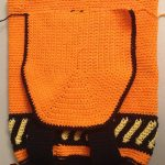 Halloween Crochet Back Pack. Close up of front of bag    thecrochetspace.com