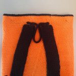 Halloween Crochet Back Pack. View of back straps    thecrochetspace.com