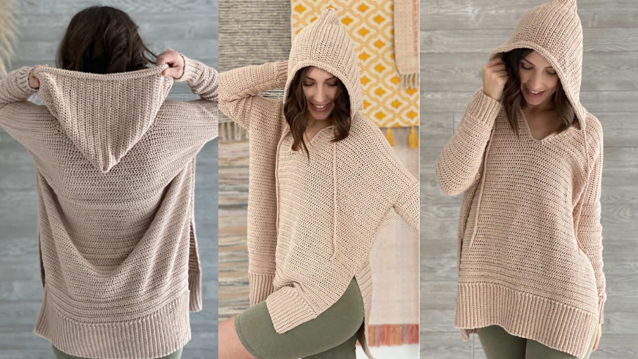 Happy Home Crochet Hoodie Free Crochet Pattern The Crochet Space