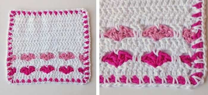 True Love Ways Dishcloth | thecrochetspace.com