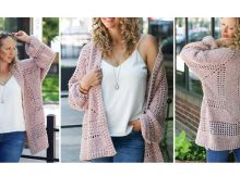Happy Hexagon Crochet Cardigan | thecrochetspace.com