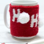 Holiday Ho Crochet Cozy. Crafted in red and white || thecrochetspace.com