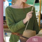 Italian Lightweight Crochet Sweater. Crafted in olive green || thecrochetspace.com