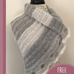 Keyhole Waterfall Crochet Scarf. Three keyholes in wrap, not pulled through || thecrochetspace.com