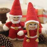 Kringles Crocheted Christmas Ornaments. Mr and Mrs Claus || thecrochetspace.com