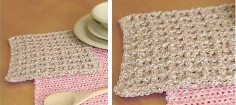 Beautiful Bernat Crochet Dishcloth | thecrochetspace.com
