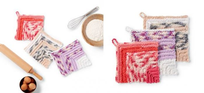 Mighty Miter Crochet Dishcloth | thecrochetspace.com
