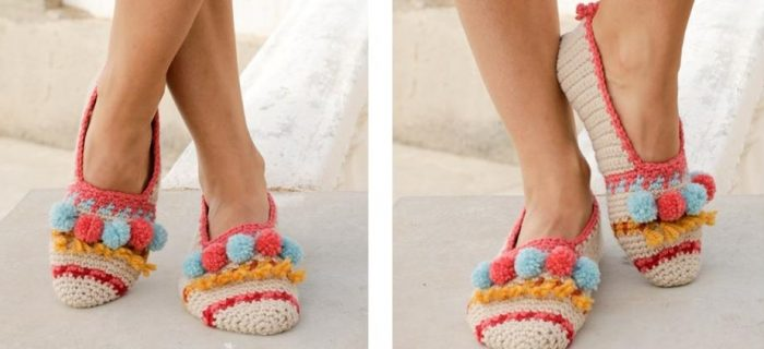 Let's Party Crochet Slippers | thecrochetspace.com