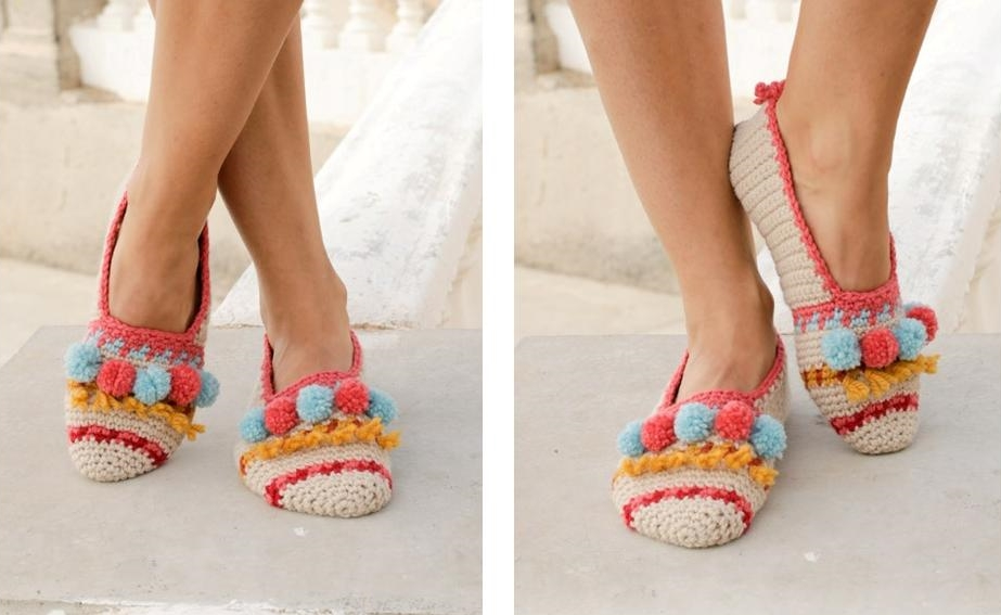 Let's Party Crochet Slippers   thecrochetspace.com
