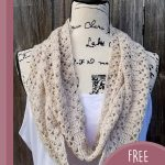 Light Prairie Crochet Scarf. Crafted in beige    thecrochetspace.com
