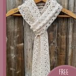 Light Prairie Crochet Scarf. On hanger , double and slipped through    thecrochetspace.com