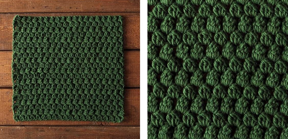 Green Gables Crochet Dishcloth | thecrochetspace.com