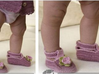 Little MIss Berry crocheted shoes | the crochet space