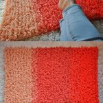 Looped Ombre Crochet Rug. Shades of Orange. Rectangle bathsize mat | thecrochetspace.com