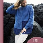 Lovely Lisbeth Crochet Sweater. Front view of oversized swater || thecrochetspace.com
