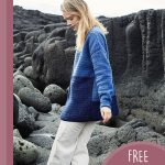 Lovely Lisbeth Crochet Sweater. Side view of contemporary sweater || thecrochetspace.com
