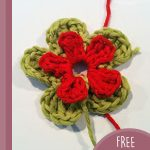 May Day Crochet Flowers. One flowers in process of being crafted || thecrochetspace.com