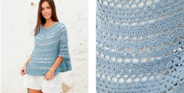 Mermaid Shell Crochet Sweater |thecrochetspace.com
