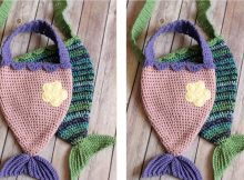 Mermaid's Magic Crochet Bag | thecrochetspace.com