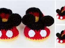 Mickey Mouse crocheted baby booties | the crochet space