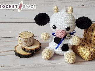 Mini Crochet Colby Cow || thecrochetspace.com